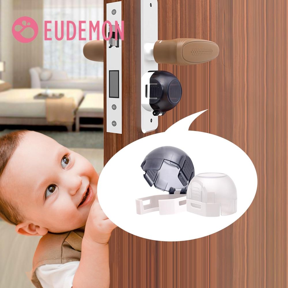 EUDEMON 2PCS Security Door Child Safety Lock Baby Room Door Anti-lock Protection Cover Protective Equipment
