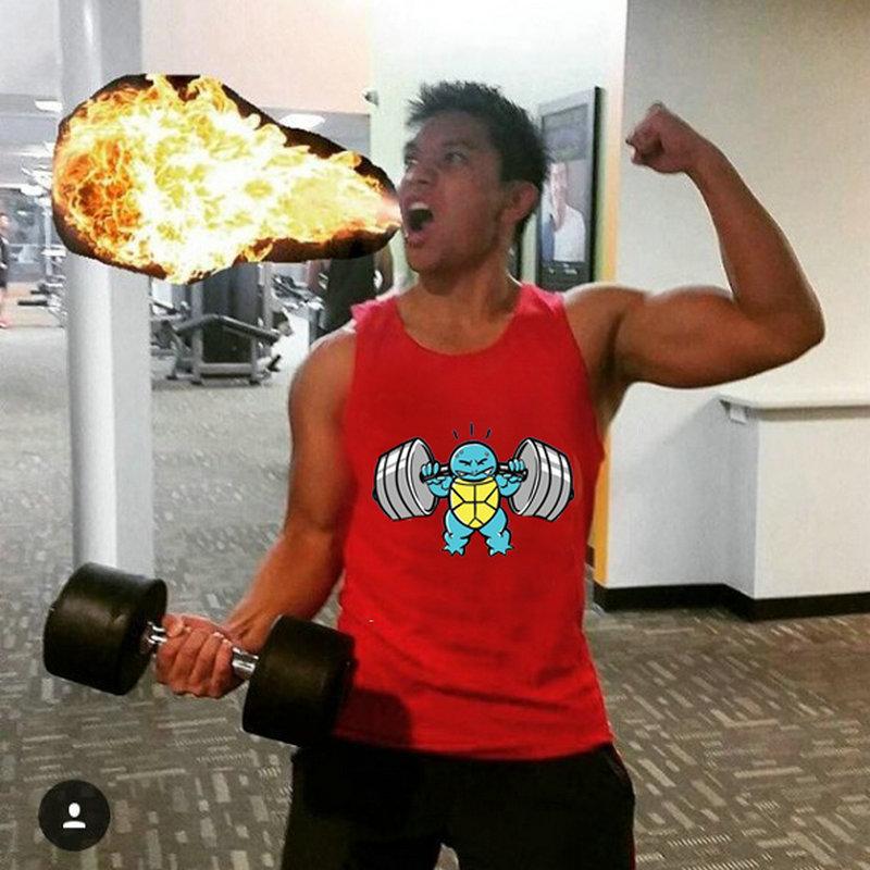 muslce vest Merk tanktops bodybuilding workout heren katoen singlets - Herenkleding - Foto 4