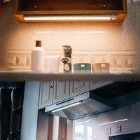 Newly LED Motion Sensor Night Light USB Rechargeable for Wardrobe Cabinet Kitchen Corridor XSD88