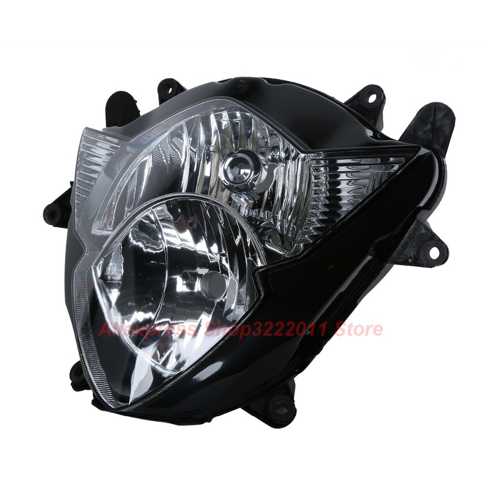 Clear Lens Motorcycle Plastic Front Light Lamp Case For Suzuki GSXR1000 2005 2006 Headlight Housing SetClear Lens Motorcycle Plastic Front Light Lamp Case For Suzuki GSXR1000 2005 2006 Headlight Housing Set