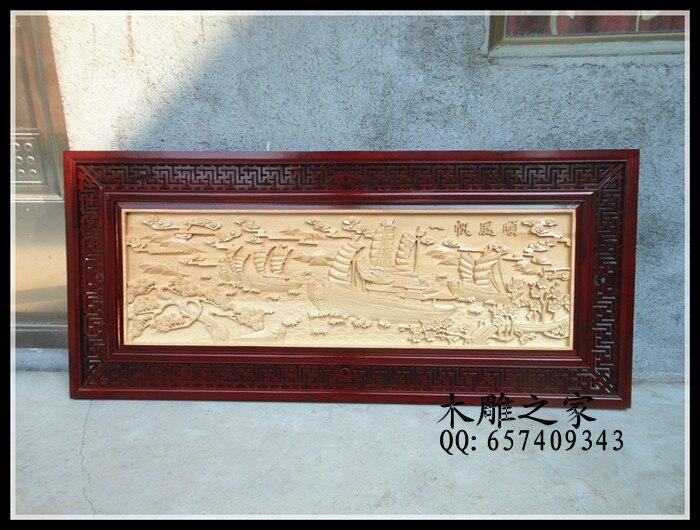 Plaque de sculpture sur bois Dongyang à l'entrée tout se passe bien. Mur mural Antique chinois fait main