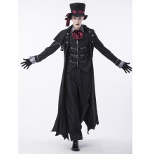SESERIA Halloween Party Men's Vampire Costume Role-Playing Vampire Evil Men's Cosplay Uniform