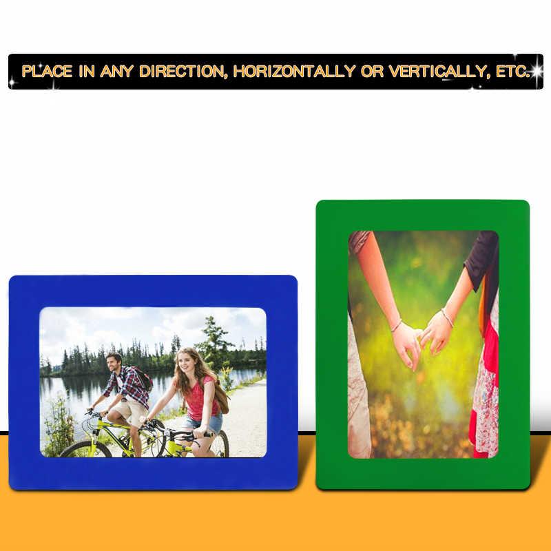 Yibai 6/7/10 Inch Từ Khung Ảnh Sử Dụng Cho Tủ Lạnh Và Sắt Chất Liệu Bề Mặt Thể Hiện Hình Ảnh nhựa PVC
