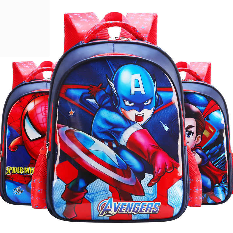 New Ultraman Captain America Iron Man Car Girl Baby Children Nursery School  bag Bagpack Schoolbags Canvas 8238ad7fa2a46
