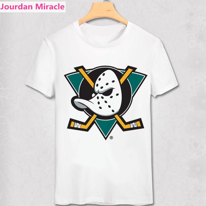 Mighty Ducks T Shirt Retro NHL League Men Women Gift T-Shirt All Team Logo Print Summer Tee tampa bay lightning Present shirt