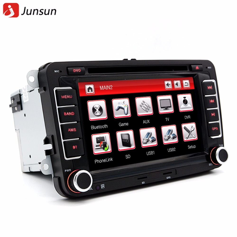 Junsun 7 Double Din font b Car b font GPS DVD Radio Player For VW Volkswagen