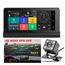 6.86 дюймов 4 г ADAS Видеорегистраторы для автомобилей Камера Android 5.1 GPS навигации WI-FI удаленного Мониторы видеокамера регистраторы регистратор с двумя объективами bluetooth