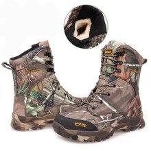 Зимние Для мужчин Военное Дело армейские ботинки теплые Водонепроницаемый камуфляж кожаные дезерты армейские ботинки безопасная обувь зимние Армейские ботинки