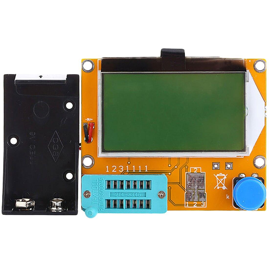 9V LCD Digital Transistor Tester Meter LCR-T4 12864 Backlight Diode Triode Capacitance ESR Meter For MOSFET/JFET/PNP/NPN L/C/R ...