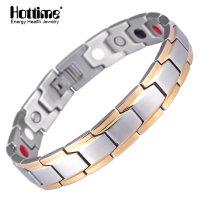 Hottime New Fashion Men S Germanium Titanium Steel Bracelet Bracelet Bangle For Men Health Bio Energy