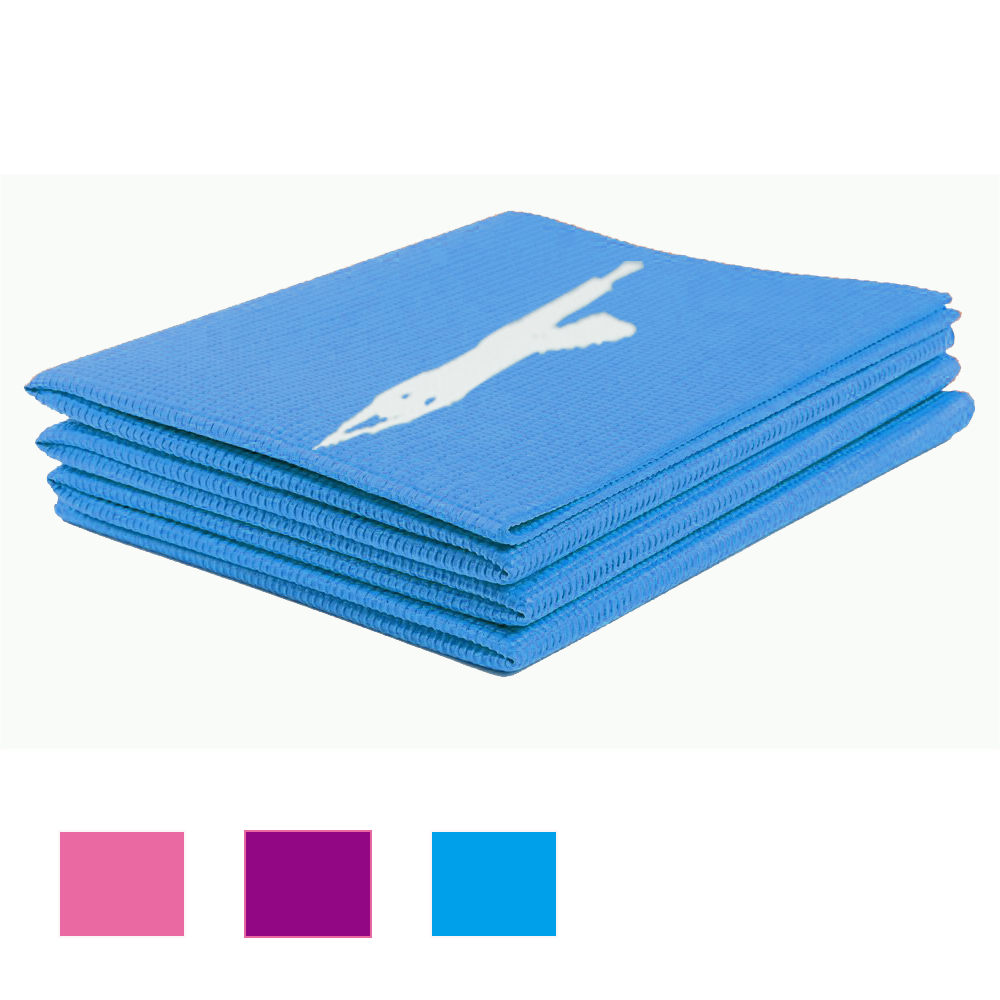 Folding Pilates Yoga Mat 4mm Thick Portable Free From