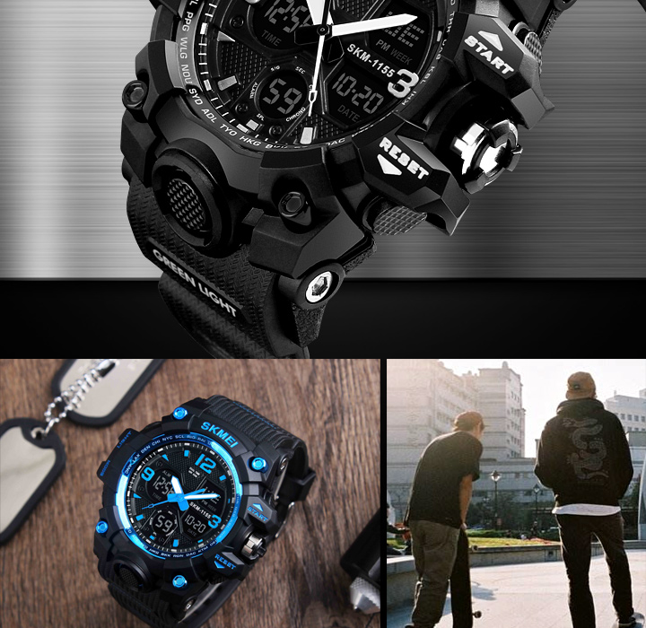 New Fashion Analog LED Digital Waterproof Watch for Men