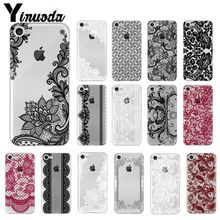 Yinuoda sexy Lace Flower Soft Silicone TPU Phone Cover for Apple iPhone 8 7 6 6S Plus X XS MAX 5 5S SE XR Mobile Cases yinuoda animals dogs dachshund soft tpu phone case for apple iphone 8 7 6 6s plus x xs max 5 5s se xr mobile cover