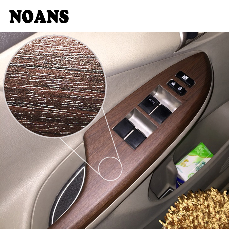 NOANS Wood Grain Vinyl Wrap Film Car Interior Stickers For Jeep Renegade Wrangler Audi A3 A4 B6 B8 A5 Opel Astra H G Accessories