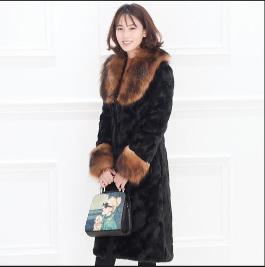 La De Faux Artificielle Outwear Plus Fourrure Hiver Femmes 2018 Taille Veste Femme Q921 Furry Manteau aP14wRq