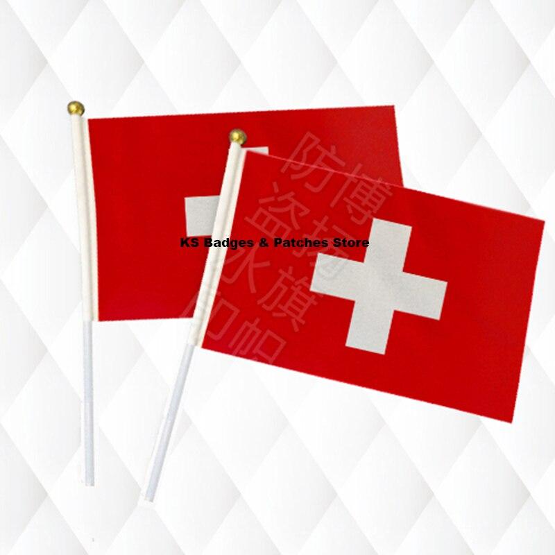 Wohnkultur Haus & Garten DemüTigen Schweiz Hand Stick Tuch Fahnen Sicherheit Ball Top Hand Nationalen Flaggen 14*21 Cm 10 Stücke Viel Ks-0149