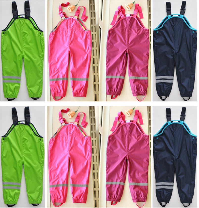 2018 Time-limited Sale Unisex Solid Spring Retail Brand Pants For And Children Cold Wind Rain Waterproof Overalls In Stock
