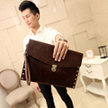 Men's Crazy Horse Leather Clutch Bag Envelope Business Fashion File Package Wallet Business Purse Bags