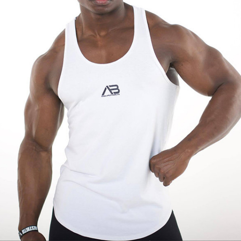 ZOGAA Fashion Casual Loose Solid Men's Stringer Bodybuilding Tank Top Gym Fitness Singlet Sleeveless Muscle Vest Summer Clothes