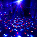 Mini LED Laser Projector MP3 DJ Club Disco Party Music Crystal Magic Ball Stage Effect RGB Spot Light Xmas With USB Disk