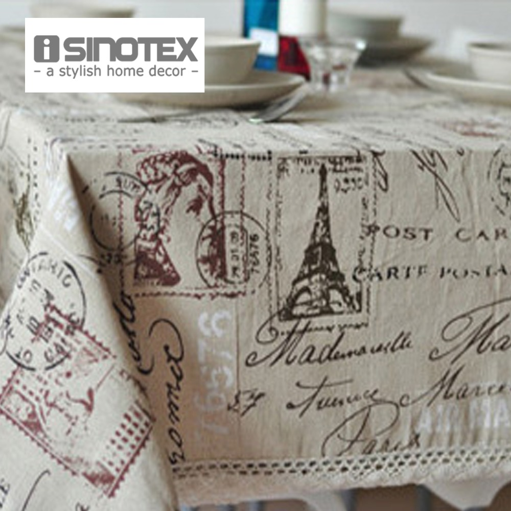 Hot Sale Universal Linen Tablecloth Table Cloth Continental Eiffel Tower Fat Cover Towel For Picnic HOme Decor 1 PCS/Lot