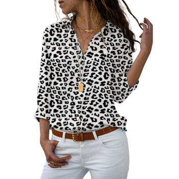 Long Sleeve Women Blouses 2021 Plus Size Turn-down Collar Blouse Shirt Casual Tops Elegant Work Wear Chiffon Shirts 5XL 4