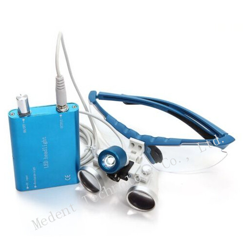 Promotion!!!DentaL Loupe LED headlight lamp and 3.5x420mm Dentist Dental Loupes binocular 100% High Quality Dental Supply 2017 blue high quality magnification 2 5x dental loupe with portable led headlight lamp 188044 uc
