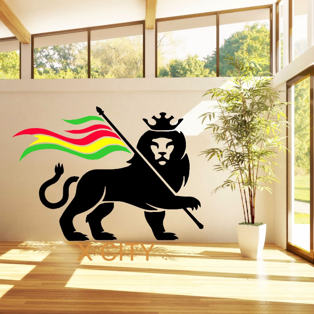 vinyl wall decals aliexpress buy rasta rastafari of judah 29612