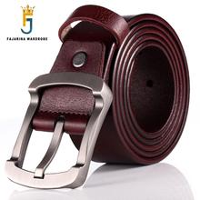 FAJARINA Kwaliteit Koeienhuid Dames Koeienhuid Leather Match Retro Eenvoudige Sluiting Stijl Riemen voor Mannen Mode Stijlen Jeans N17FJ501