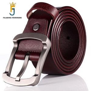 Image 1 - FAJARINA Kwaliteit Koeienhuid Dames Koeienhuid Leather Match Retro Eenvoudige Sluiting Stijl Riemen voor Mannen Mode Stijlen Jeans N17FJ501