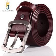 FAJARINA Qualität Rindsleder Damen Rindsleder Allgleiches Retro Einfache Verschluss Stil Gürtel für Männer Mode Stile Jeans N17FJ501