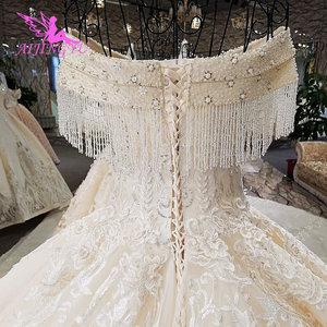 Image 3 - AIJINGYU Sequin Ball Gown Plus Size Bridal Gown Antique engagement Sexy This SeasonS Lace Top Civil Wedding Dress