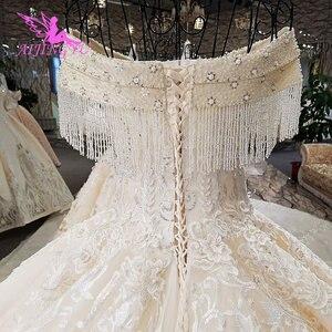 Image 3 - AIJINGYU الترتر الكرة ثوب بالإضافة إلى حجم فستان زفاف المشاركة العتيقة مثير هذا الموسم الدانتيل أعلى فستان الزفاف المدني