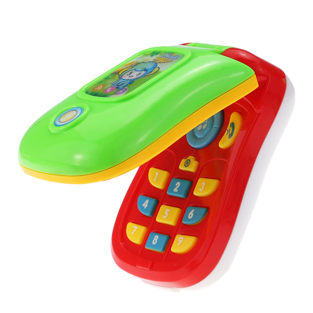 цена на Electronic Mobile Phone Toys Colorful Baby Music Cellular Phone Toy Flip Diary Case Cover Musical Cellphone Enlightment Toy