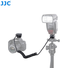 Jjc 1.3 m ttl 오프 dslr 카메라 플래시 코드 핫슈 동기화 원격 케이블 라이트 포커스 케이블 캐논 600ex II RT/600ex rt/430ex III RT