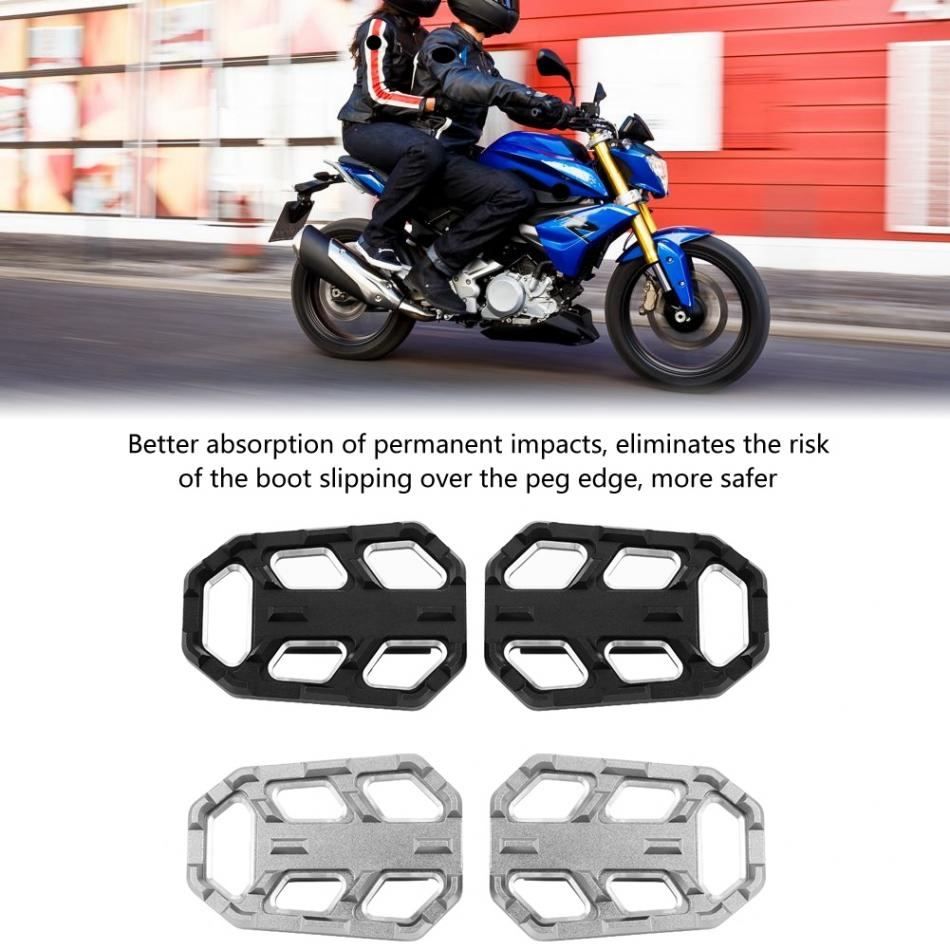 Motorcycle Rest Pegs,Keenso Motorcycle Footpeg Footrest Bracket Set for BMW G310R G310GS R1200GS LC S 1000XR Black