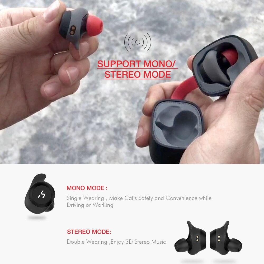HAVIT TWS Bluetooth Écouteur Sans Fil Sport Écouteurs Stéréo Étanche Écouteurs Avec Microphone pour les Appels Mains Libres G1 - 5