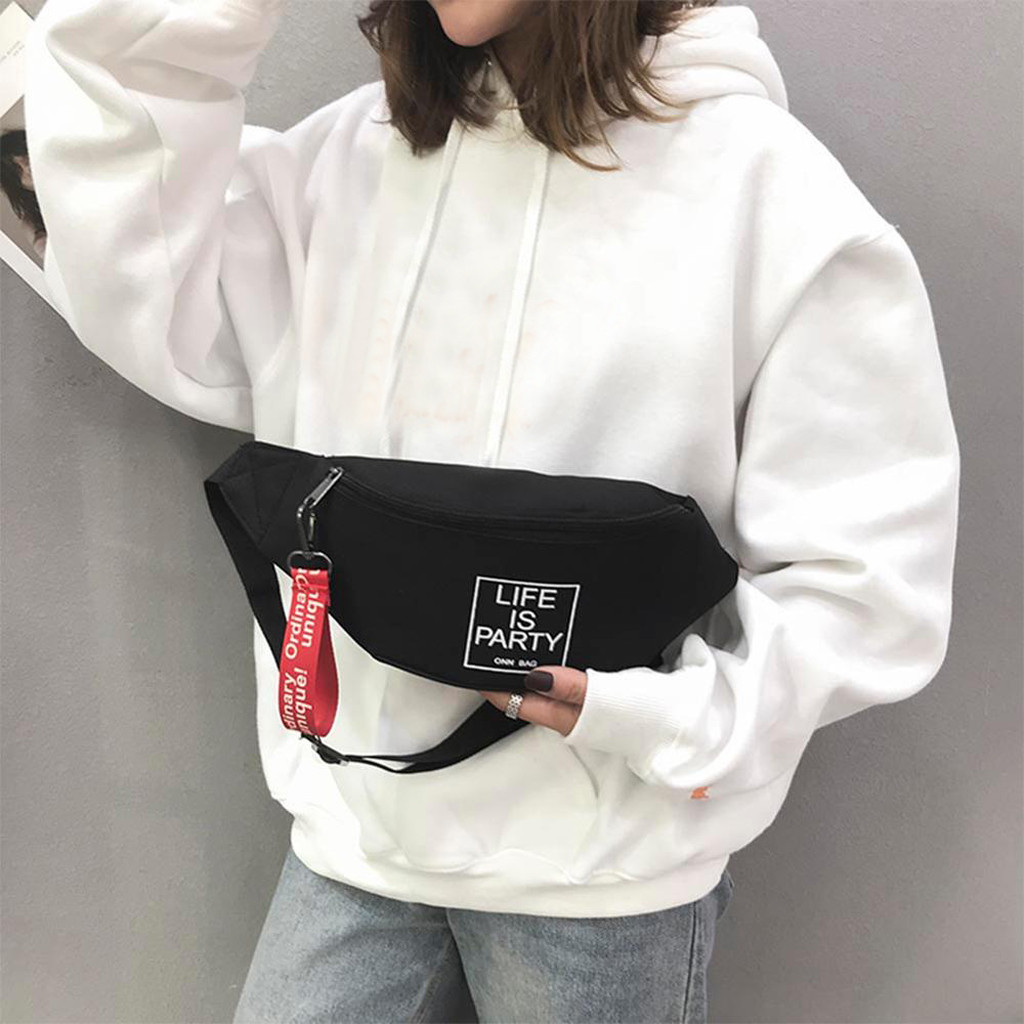 Men Women Canvas Sports Fanny Casual Chest Packs Waist Bag Letter Shoulder Messenger Crossbody Chest Bags Packs#15