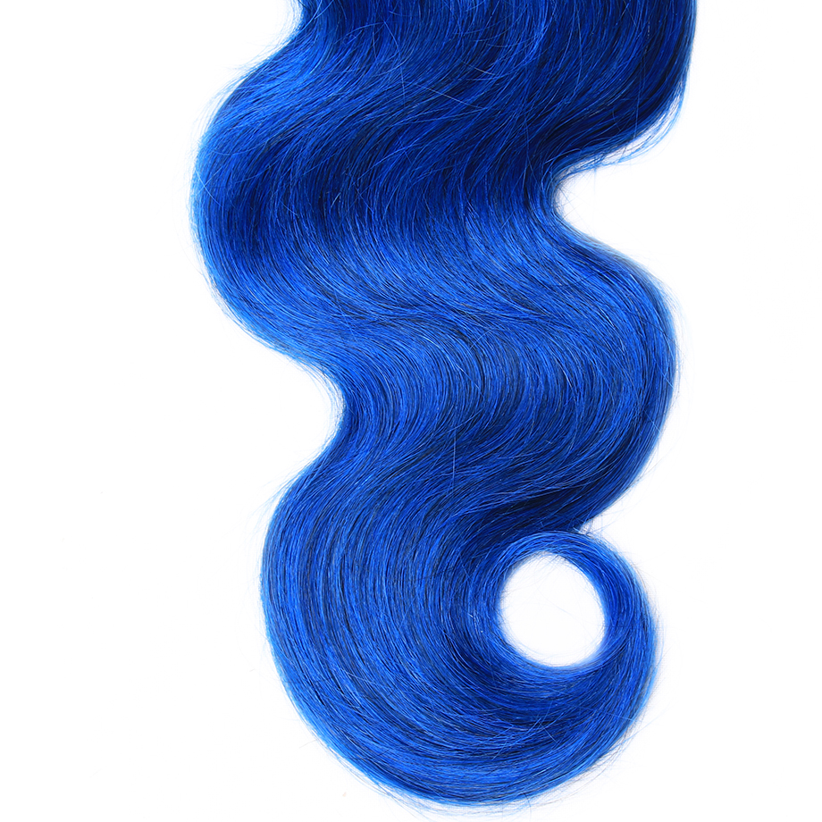 By Pre Colored Non Remy Hair Brazilian Human Hair Weave