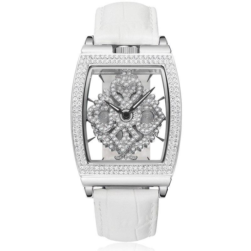 Новый Relogio Feminino поворот женщина кварцевые часы Дамская мода часы лучший бренд роскошных Водонепроницаемый смотреть Hollow браслет часы