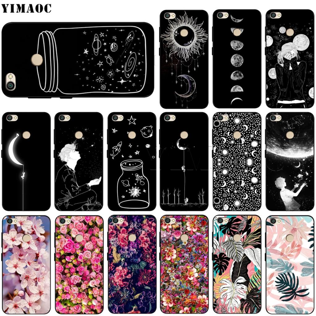 Phone Bags & Cases Half-wrapped Case Helpful 73g Sky Space Planet Black And White Sun Moon For Xiaomi Redmi 4a 5a Case Fundas Case Redmi 4a 5a Cover Soft Silicone Tpu Bags