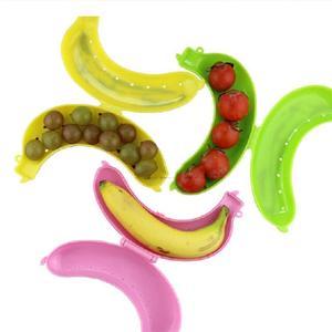 Image 4 - חדש מוסמך חמוד 3 צבעים פירות בננה מגן תיבה מחזיק מקרה הצהריים מיכל אחסון תיבת לילדים להגן פירות מקרה SEP20