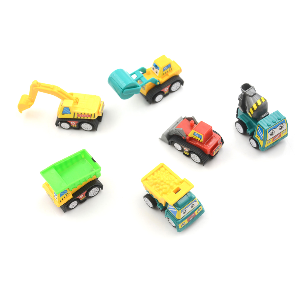 6PCS One Set Classic Mini Small Cute Pull Back Truck Vehicle Car Toy Gift For Boy Girl Kids Child image