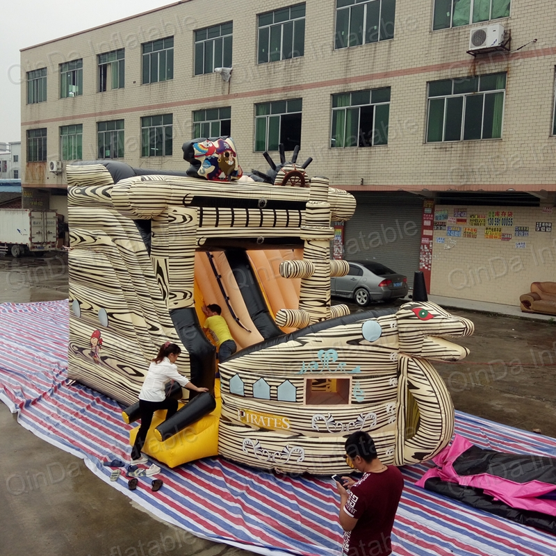 Inflatable Pirate Ship Bounce House Construction Truck Inflatable Bouncy Castle House for Kids Party bmbe табурет pirate