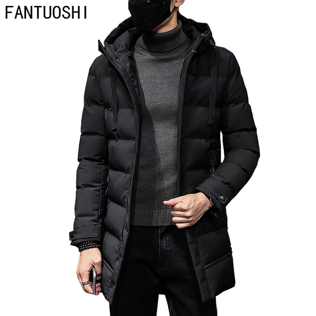 Flash Sale 2018 Fashion Winter New Jacket Men Warm Coat Fashion Casual Parka Medium-Long Thickening Coat Men For Winter Plus size 4XL