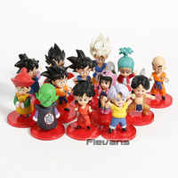 Dragon Ball Bambino SBulma Tronchi di Chi Chi Vegeta su Goku Gohan Gotan Crilin Piccolo Mini PVC Figure DBZ Figurine Giocattoli 13 pz/set