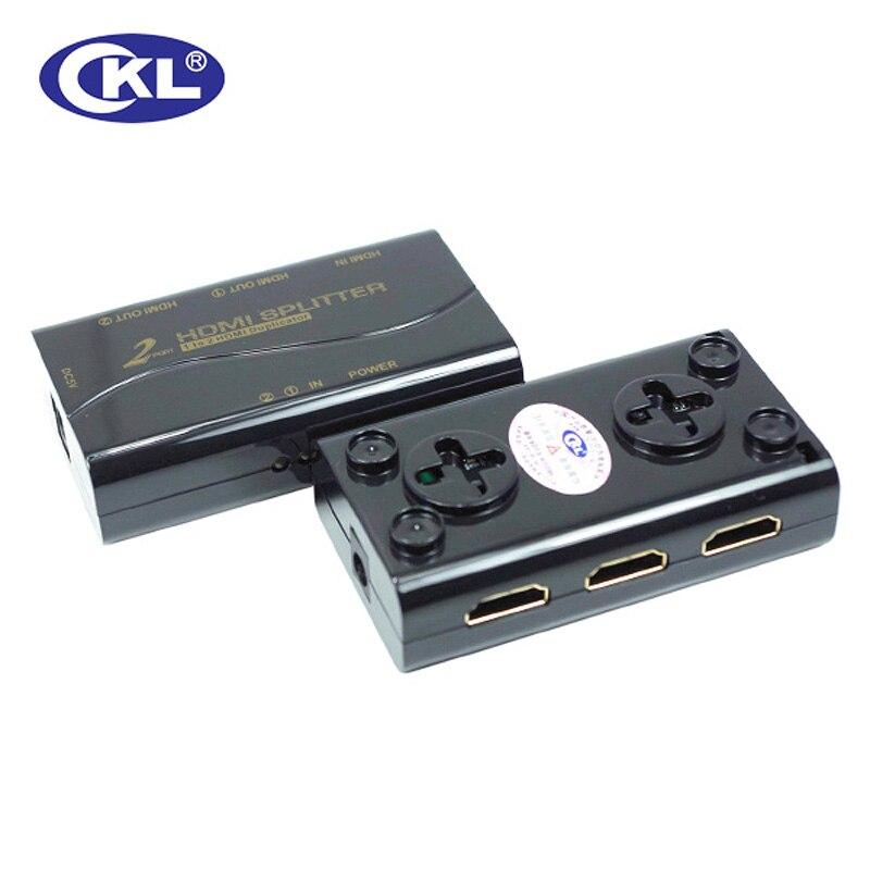 Ckl Hd-92m 1*2 2 Port Mini Hdmi Splitter Unterstützung 1,4 V 3d 1080 P Für Pc Monitor Kvm-switches