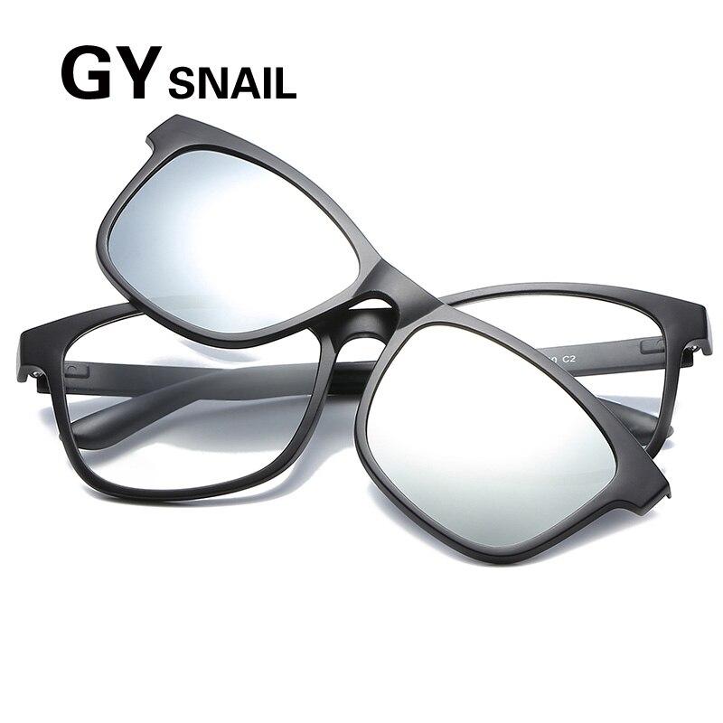 9ebc60e1e GYsnail quadrados óculos de sol dos homens polarizados miopia clip  magnético na armação oculos de sol do vintage masculino óculos de sol para  as mulheres ...