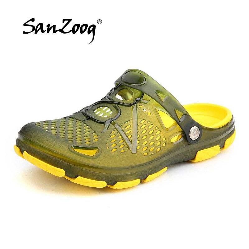 Hot Jelly Shoes Men 2018 Sandalias Hombre Sandalet Beach Hollow Slippers Mens Sandalen Flip Flops Sandal Shoe Summer Chanclas цена