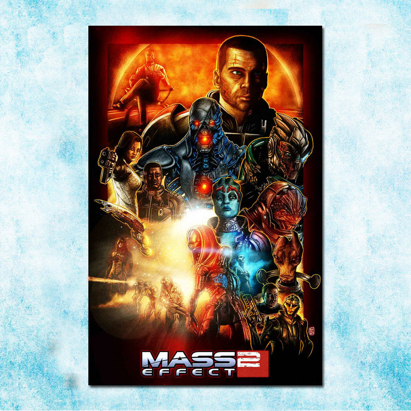 Mass Effect Hot Game Art Silk Poster Canvas Print 13x20 inch-007 image